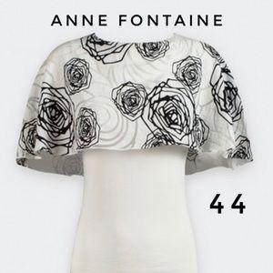 Anne Fontaine Natacha print Cape style knit top